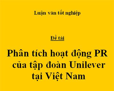 hoạt động PR Unilever VN