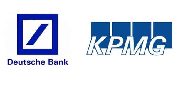 logo ngân hàng Deutsche bank và hãng kiểm toán KPMG